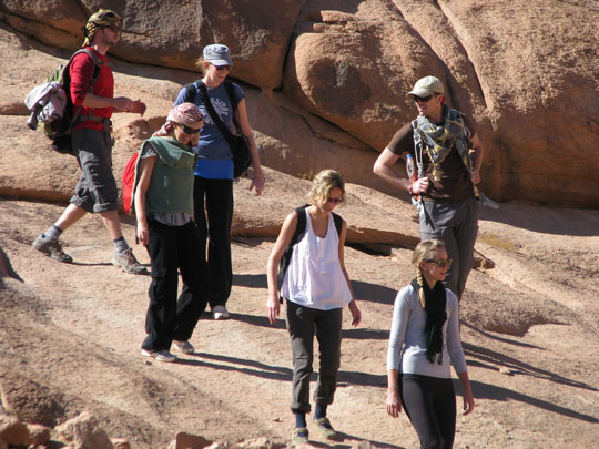 Trekking on Mt Sinai