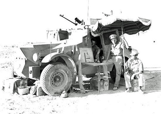 11th Hussars and Morris armoured car