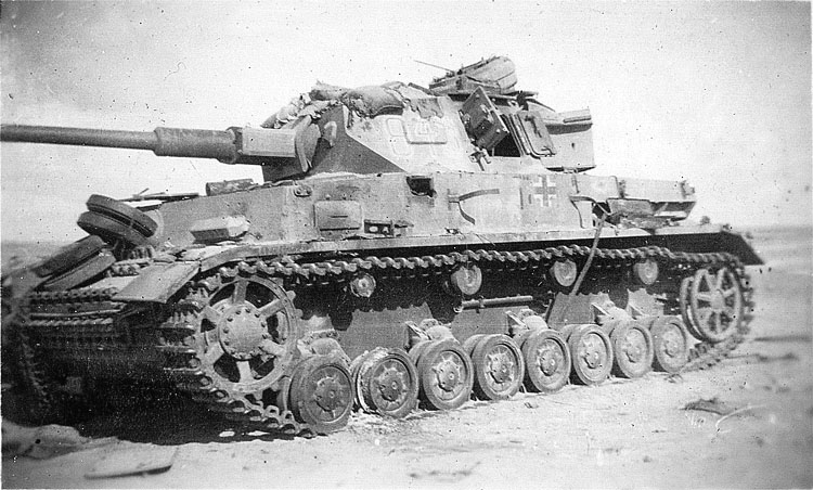 Panzer Mk IV with its long 75 mm barrel
